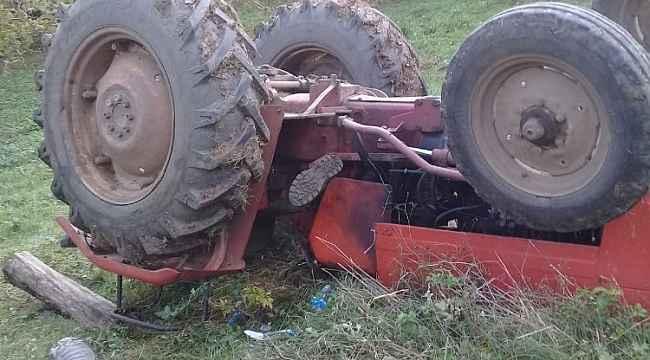 Kocaeli'de devrilen traktörün altında kalan şahıs yaralandı