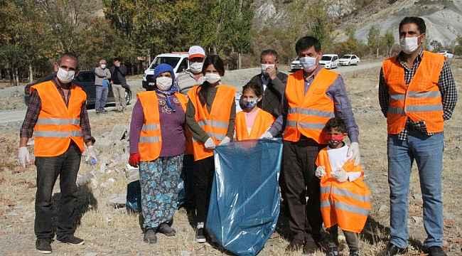 Köylülerden çevre temizliği