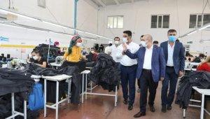 Mardin Valisi Demirtaş OSB'deki fabrikaları gezdi
