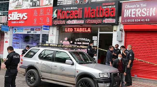 Matbaa işletmecisi iş yerinde silahlı saldırıda yaralandı