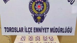 Mersin'de bir evde 196 adet uyuşturucu hap ele geçirildi