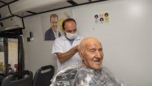 Mersin'de pandemi döneminde 'mobil kuaför' hizmeti