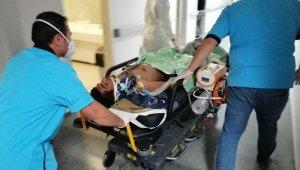 Metrelerce sürüklenen motosikletin sürücü ağır yaralandı