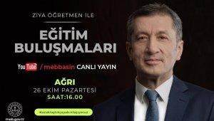 Milli Eğitim Bakanı Prof. Dr. Selçuk, Ağrı'daki öğretmenler ile bulaşacak