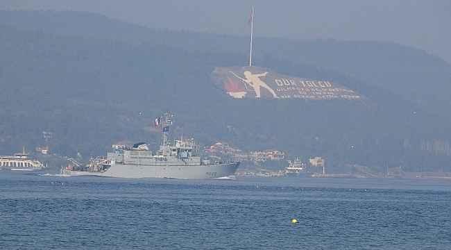 NATO savaş gemileri peş peşe Çanakkale Boğazı'ndan geçti