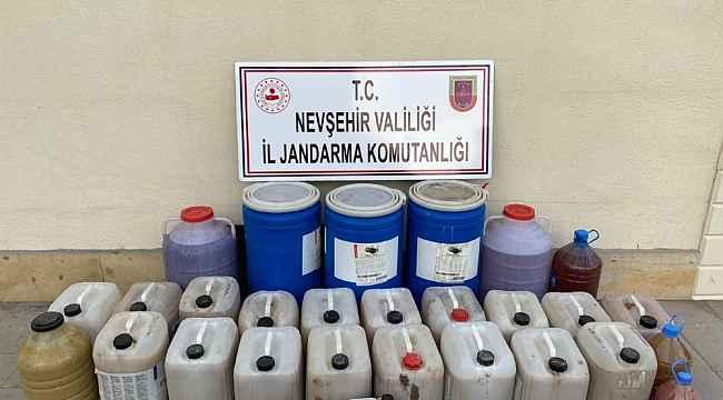 Nevşehir'de 650 litre sahte içki ele geçirildi