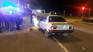 Otomobil takla attı, sürücü yara almadan kurtuldu