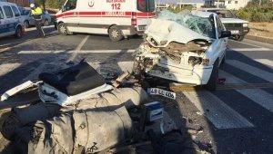 Otomobil Tır'ın altına girdi: 1 ölü, 3 yaralı