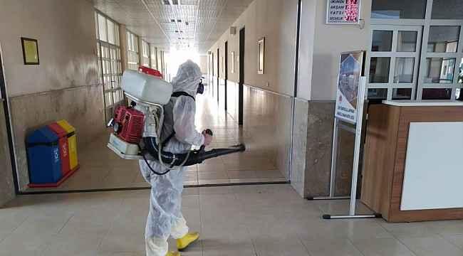 Safranbolu'da okullarda dezenfekte çalışmaları sürüyor