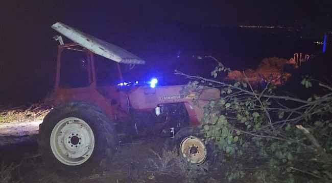 Şarampole uçan traktör sürücüsü ağır yaralandı