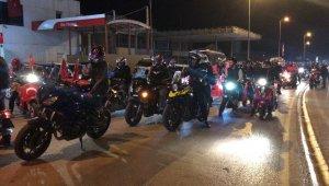 Sinop'ta 29 Ekim Cumhuriyet Bayramı konvoyu