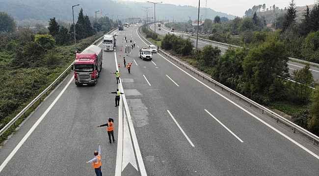 TEM Otoyolu Bolu Dağı Tüneli yeniden trafiğe kapatıldı