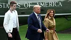 Trump'ın oğlunun da koronavirüse yakalandığı, First Lady'in yazısında ortaya çıktı