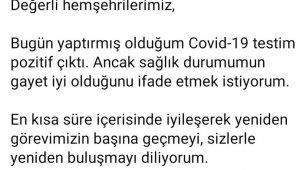Uşak Belediye Başkanı Mehmet Çakın'ın korona testi pozitif çıktı