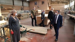 Vali Atay'dan istihdama katkı sunan fabrikalara ziyaret