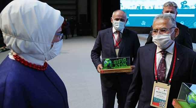 Yahyalı Belediyesi'nin sıfır atık projesi ödül aldı