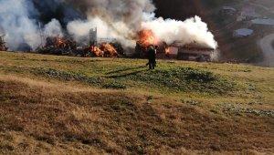 Yaylada çıkan yangın 5 evi kül etti