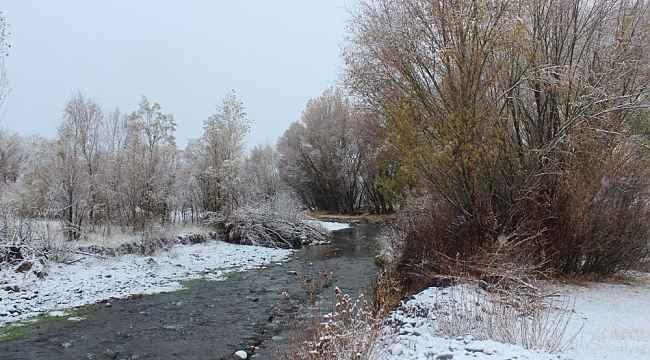 Ağrı'da etkili olan kar kartpostallık görüntülere sahne oldu