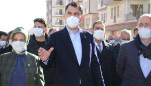 """Bakan Kurum: """"Elazığ'da 19 bin 500 konuttan 2 bin 500'ünü tamamladık"""""""