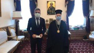 Başkan Aksoy, Rum Patriği Bartholomeos'la görüştü