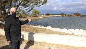 Başkan Yüksel Ergene'de ilk olarak Velimeşe Göleti'ni inceledi