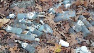 Buldan'da ortalığa atılan çöpler, çirkin manzaraya sebep oldu