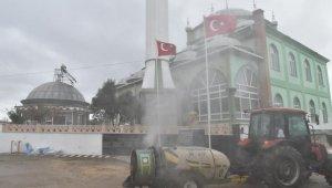 Çan belediyesi'nden köylere dezenfekte desteği