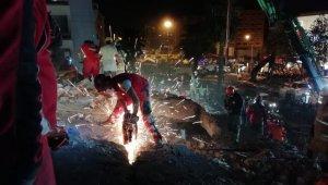 Denizli'den giden arama kurtarma ekipleri çalışmalara devam ediyor
