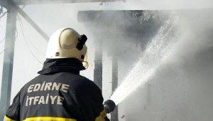 Edirne'de sosyal tesiste yangın