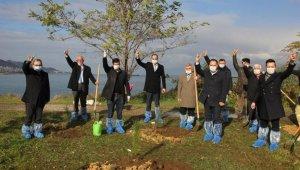 Giresunlu Ülkücüler, Alparslan Türkeş'in anısına fidan dikti