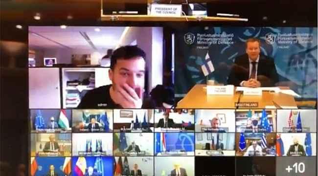 Hollandalı gazeteci AB Savunma Bakanları Zoom toplantısına sızdı
