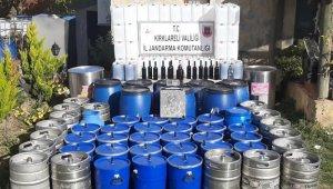 Kırklareli'de 2 ton kaçak şarap ele geçirildi