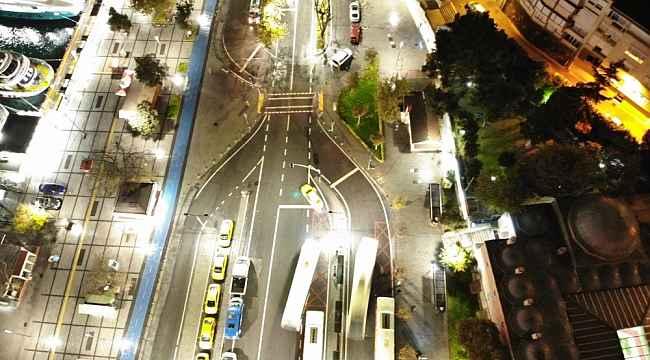 Kısıtlama sonrası Üsküdar Meydanı havadan görüntülendi