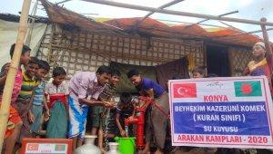KOMEK kursiyerlerinden Arakan'a su kuyusu