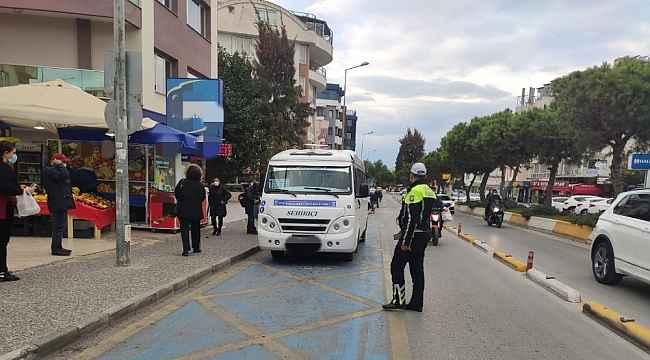 Kuşadası'nda toplu taşıma araçları denetlendi