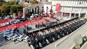 Malatya Büyükşehir'e 29 araç ve iş makinası takviyesi