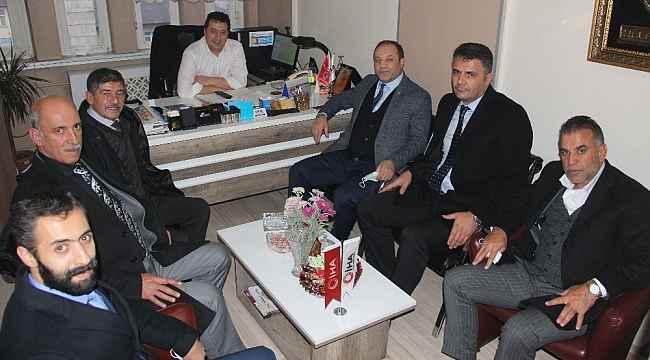 MHP İl Başkanı Naim Karataş ve yönetim kurulu üyelerinden İHA'ya ziyaret