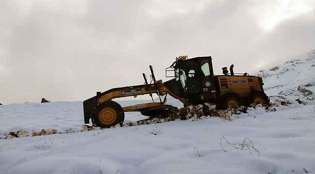 Muğla'da kar ile mücadele başladı