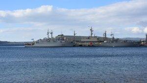 NATO Daimi Mayın Karşı Tedbirleri Deniz Görev Grubu-2 unsuru gemiler Çanakkale'ye liman ziyareti gerçekleştirdi