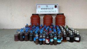 Nevşehir'de 1 ton kaçak içki ele geçirildi