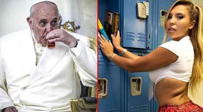 """Papa, Brezilyalı modelin bikinili fotoğrafı beğenmişti... Vatikan """"olamaz"""" diyerek Instagram'dan açıklama istedi"""
