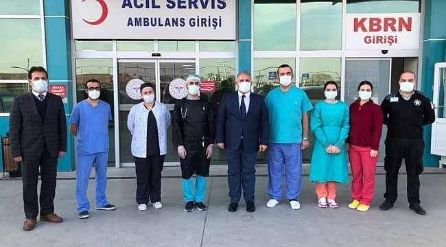 Sağlık çalışanlarına moral ziyareti - Bursa Haberleri