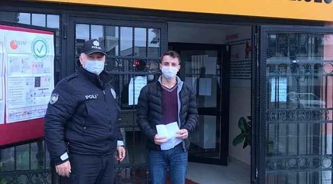 Samsun polisi öğrenciyi son anda sınava yetiştirdi