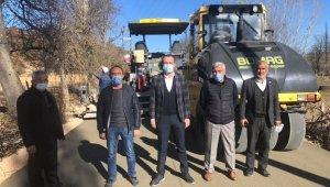 Simav'da ilk defa beton yol uygulaması