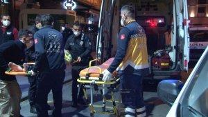 Şişli'de bir otelin camından tente üzerine düşen kadın hastaneye kaldırıldı
