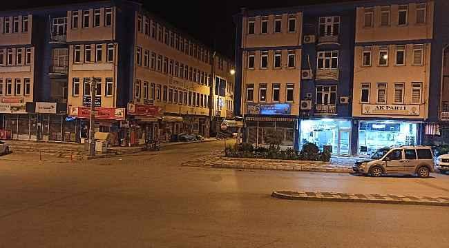 Şuhut'ta kisitlamanın ilk günü cadde ve sokaklar bomboş kaldı