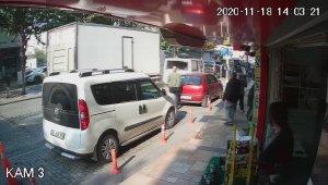 Sürücüsü kriz geçiren kamyonet ışıklarda bekleyen 3 aracı ezdi