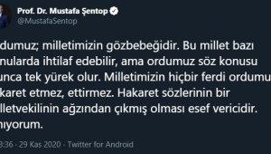 """TBMM Başkanı Şentop: """"Hakaret sözlerinin bir milletvekilinin ağzından çıkmış olması esef vericidir"""""""