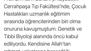 Tıp dünyası ve ülkemizin acı kaybı...Prof. Dr. Asım Cenani hayatını kaybetti