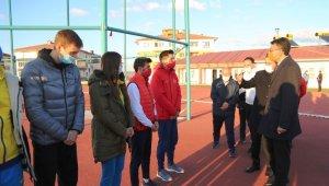 Türkiye ve Ukrayna atletizm milli takımları Kütahya'da kampa girdi